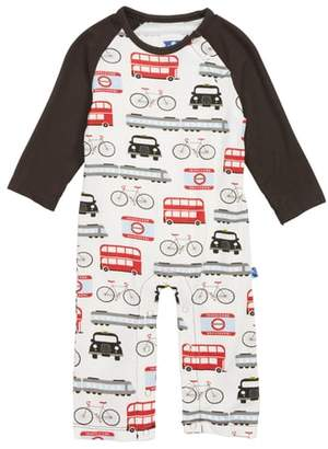 Kickee Pants London Transport Raglan Romper