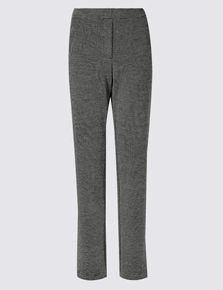 Marks and Spencer Textured Straight Leg Trousers