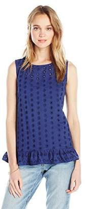 Ella Moon Women's Standard Eliza Sleeveless Eyelet Top