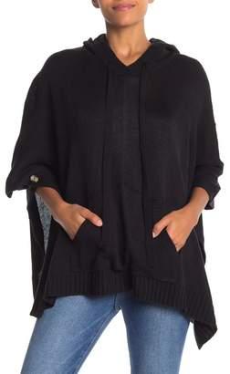 Olivia Pratt Hooded Knit Poncho