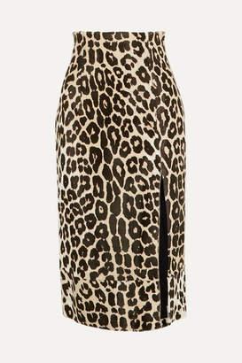 16Arlington Lipton Leopard-print Calf Hair Midi Skirt - Leopard print