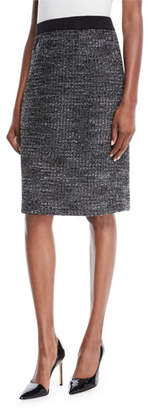 Misook Tweed Knit Pencil Skirt, Plus Size