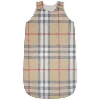 Burberry BurberryPale Beige Check Baby Sleep Bag