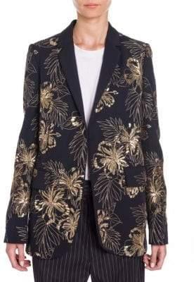 Stella McCartney Embroidered Wool Boyfriend Blazer