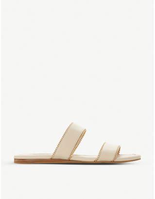 Dune Loupez bead-trimmed leather sandals
