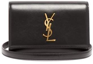 Saint Laurent Kate Leather Belt Bag - Womens - Black