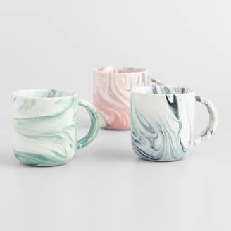 Cost Plus World Market Marble Mugs Set of 3