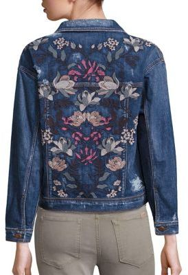 Joe's Bella Embroidered Denim Jacket $278 thestylecure.com