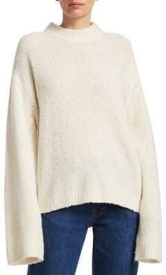 Elizabeth and James Women's Josette Bouclé-Knit Sweater - Alabaster - Size Small