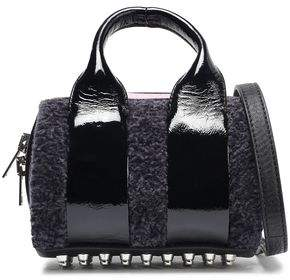 Alexander Wang Rockie Baby Shearling And Patent-leather Shoulder Bag