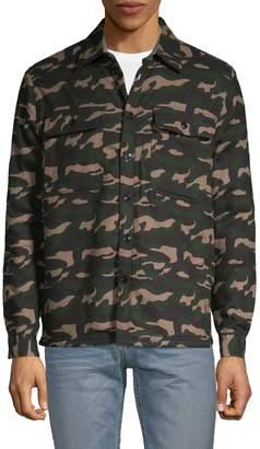 Vstr Premium Camouflage Faux Shearling-Trimmed Cotton Jacket