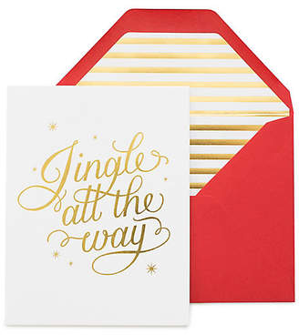 One Kings Lane Set of 6 Jingle All the Way Greeting Cards