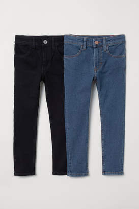 H&M 2-pack Skinny Fit Jeans - Blue