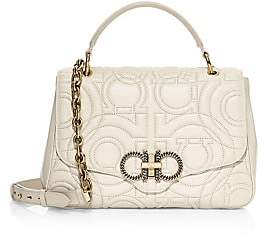 Salvatore Ferragamo Women's Gancino Quilted Leather Top Handle Bag