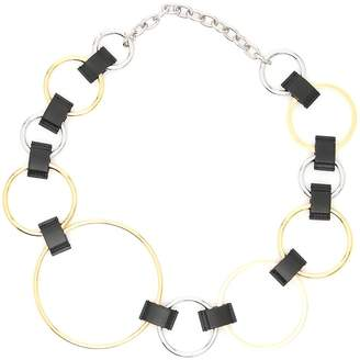 Marni Metal And Leather Ring Belt