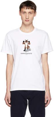MAISON KITSUNÉ White Pixel Fox T-Shirt