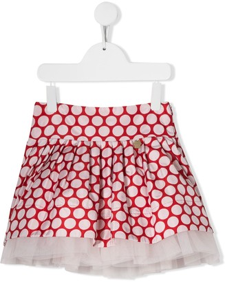 Simonetta polka-dot mini skirt