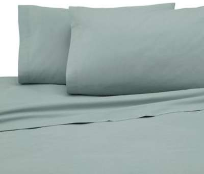 225-Thread Count Standard Pillowcase Set in Sage (Set of 2)