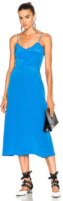 Tibi Silk Ruffle Dress
