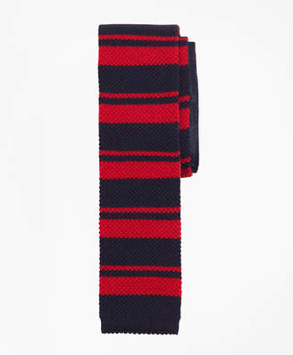 Brooks Brothers Square End Horizontal Stripe Knit Tie