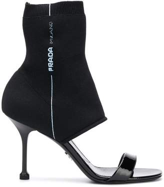 Prada sock ankle sandals