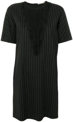 Marco De Vincenzo pleated front striped dress