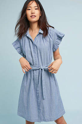 Isabella Sinclair Piper Flutter-Sleeve Shirtdress $148 thestylecure.com