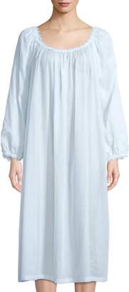 Celestine Fleur Scalloped-Trim Nightgown