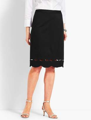 Talbots Scallop-Hem Ponte Pencil Skirt