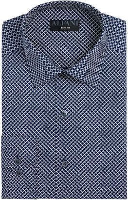 Alfani AlfaTech by Men Fitted Performance Stretch Puzzle Print Dress Shirt