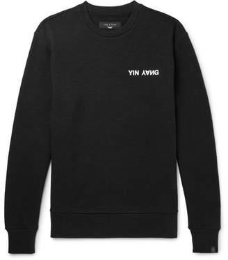 Rag & Bone Printed Loopback Cotton-Jersey Sweatshirt