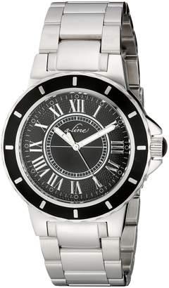 A Line a_line Women's AL-20013-11 Marina Silver-Tone/Black Stainless Steel Watch