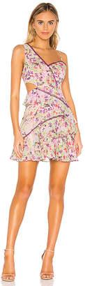 BCBGMAXAZRIA Ruffle Cutout Dress