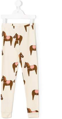 Mini Rodini horse print leggings