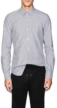 Paul Smith Men's Embroidered Striped Cotton Poplin Shirt