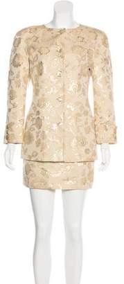 Valentino Metallic Skirt Suit
