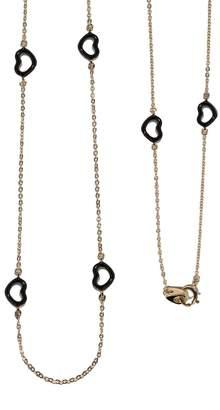 Jordan Askill Black Enamel Multi-Heart Necklace