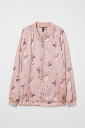H&M Satin Bomber Jacket - Pink