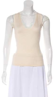 Ralph Lauren Black Label Short Sleeve Cashmere Top