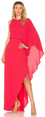 Halston Flowy One Sleeve Gown