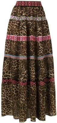 Cecilia Prado animal print midi skirt