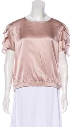 Anine Bing Silk Short Sleeve Blouse w/ Tags