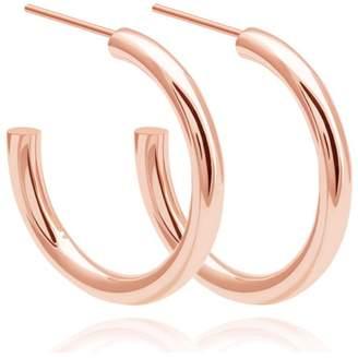 Astrid & Miyu - Basic Large Hoop Earrings In Rose Gold