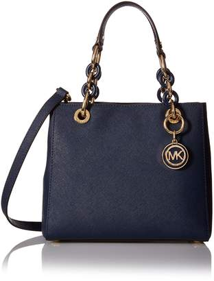 Michael Kors Women's Small Cynthia Leather Satchel Leather Top-Handle Tote