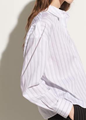 Pinstripe Dobby Boxy Shirt