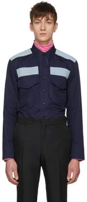 Calvin Klein Navy Workwear Pocket Shirt