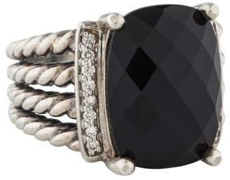 David Yurman Onyx & Diamond Wheaton Ring