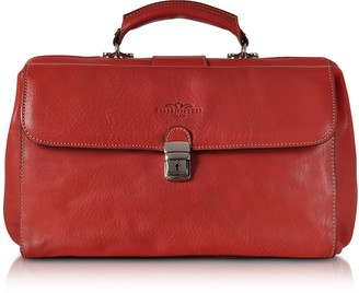 Robe Di Firenze Red Medium Genuine Italian Leather Doctor Bag