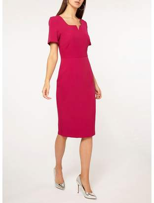 Dorothy Perkins - Tall Pink Notch Neck Pencil Dress