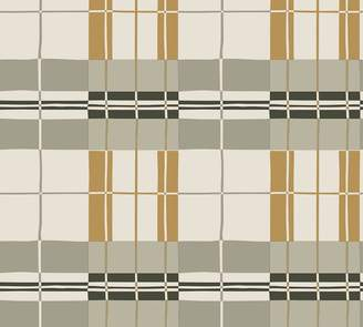 Pottery Barn Paired Back Plaid Mustard Wallpaper Sample